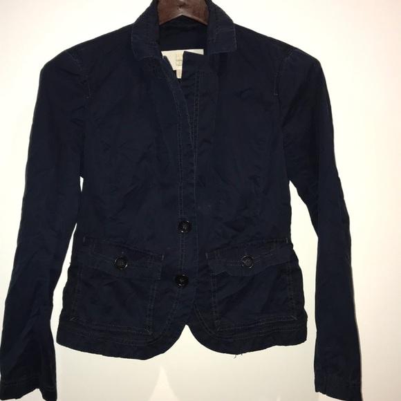 J. Crew Jackets & Blazers - J crew twill navy blue jacket